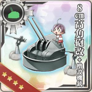 8cm高角砲改+増設機銃