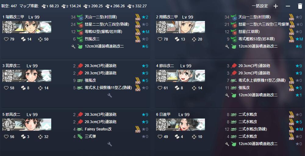 突破 E7-3-2第3ボス 夜戦1