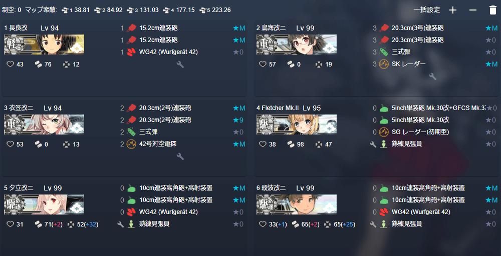 2020梅雨&夏 E6-1戦力1 鉄底海峡の死闘 編成例 連合第二