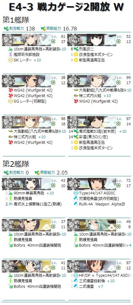 編成画像 輸送護衛部隊 護衛空母1揚陸1軽巡2駆逐8