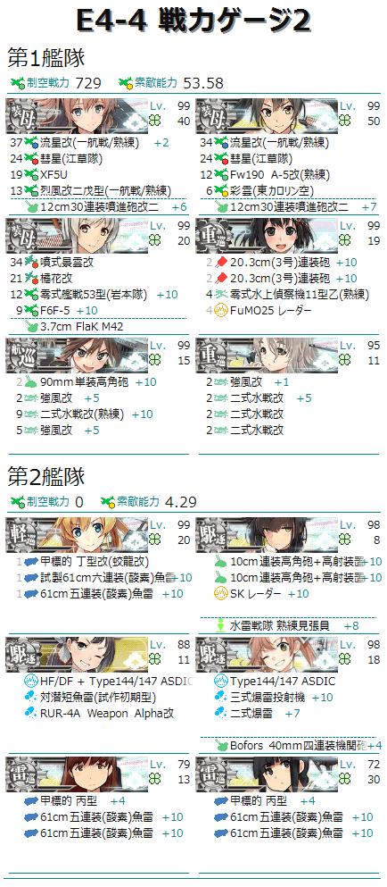 編成画像 空母3重巡級3軽巡1雷巡2駆逐3